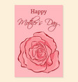 happy mothers day greeting card a beautiful vector image