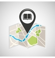 library map pin pointer design vector image