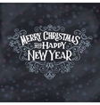 MERRY CHRISTMAS lettering1 vector image
