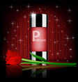 romantic cosmetic set rose perfume contained with vector image