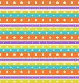 Seamless Vintage texture with Stripes and Circles vector image