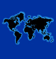 world map with blue ocean vector image