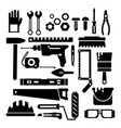 silhouette of construction or repair tools vector image