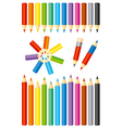 Color pencils vector image vector image
