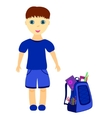 schoolboy with backpack vector image