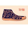 Typographical retro grunge Birthday Card vector image