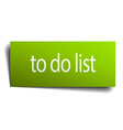 to do list square paper sign isolated on white vector image