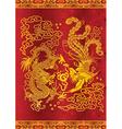 dragon and phoenix vector image