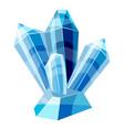 Blue crystals icon cartoon style vector image