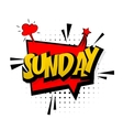 Comic red sound effects pop art Sunday week end vector image