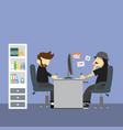 creative office room interior workspace vector image