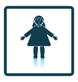 Doll toy icon vector image