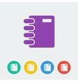 Notebook flat circle icon vector image