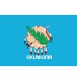 Oklahoma flag vector image