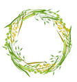 wreath with herbs and cereal grass floral design vector image