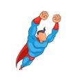 Flying superhero icon cartoon style vector image