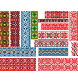 set of patterns for embroidery stitch vector image