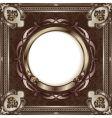 metallic vintage frame vector image