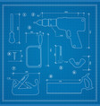 blueprint building tool vector image
