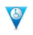 handicap symbol on pointer blue vector image vector image