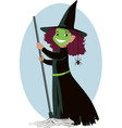 Little Wicked Witch vector image vector image