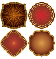 Ornate decorative golden frames vector image