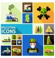 Pollution Icons Set vector image
