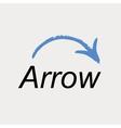 Arrow icon logo emblem vector image