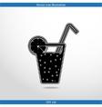 juice glass with lemon vector image