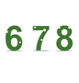 Grass numbers 6-8 vector image