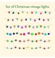 Christmas string lights set vector image