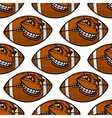 American football balls seamless pattern vector image