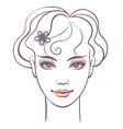 beautiful woman portrait linear vector image vector image