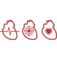 a set of three hearts can be used for the logo vector image