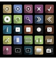 icon flat music vector image
