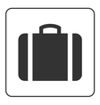 Suitcase icon white vector image