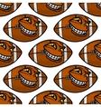 American football balls seamless pattern vector image
