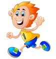boy running vector image