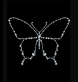 Diamond butterfly vector image