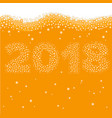 happy new year 2018 concept vector image