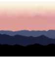 Landscape with Mountain and Sunrise vector image