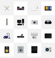 set of 16 editable tech flat icons includes vector image