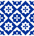 tile indigo blue and white decorative floor tiles vector image