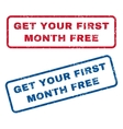 Get Your First Month Free Rubber Stamps vector image