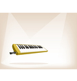 A Musical Melodica on Brown Stage Background vector image vector image