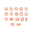 different web icons set vector image