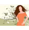 floral female vector image