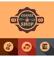 flat coffee design vector image vector image