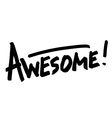 Awesome hand lettering word vector image vector image