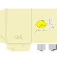 Decorative folder with a yellow lemon vector image